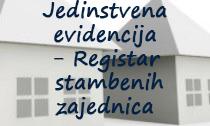 Jedinstvena evidencija - Registar stambenih zajednica