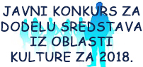 Javni konkurs kultura 2018.