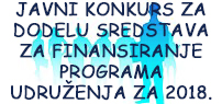 Javni konkurs udruženja 2018.