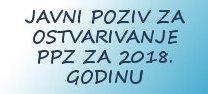 Javni poziv za ostvarivanje ppz za 2018. godinu