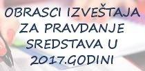 Obrasci izveštaja za pravdanje sredstava opštine Novi Bečej